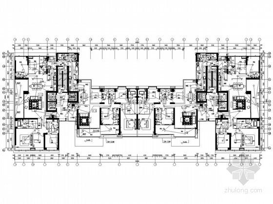 [广东]大型住宅小区强弱电系统全套电气施工图纸100张(两栋165米超高层、地下室)