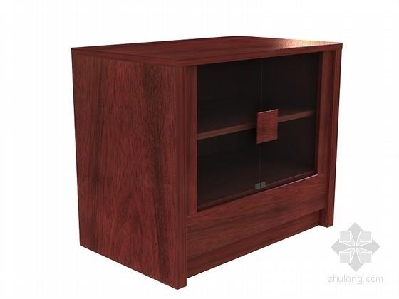 现代中式餐柜3D模型下载