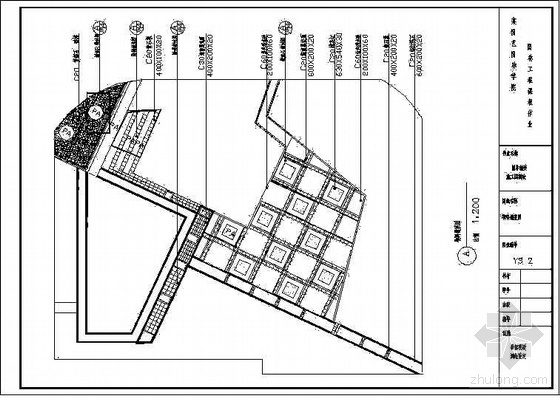 某校区图书馆前小广场施工图