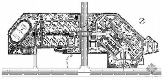 某校园景观规划设计平面图