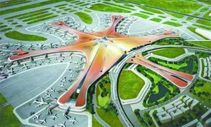 北京新机场主航站楼主体结构封顶