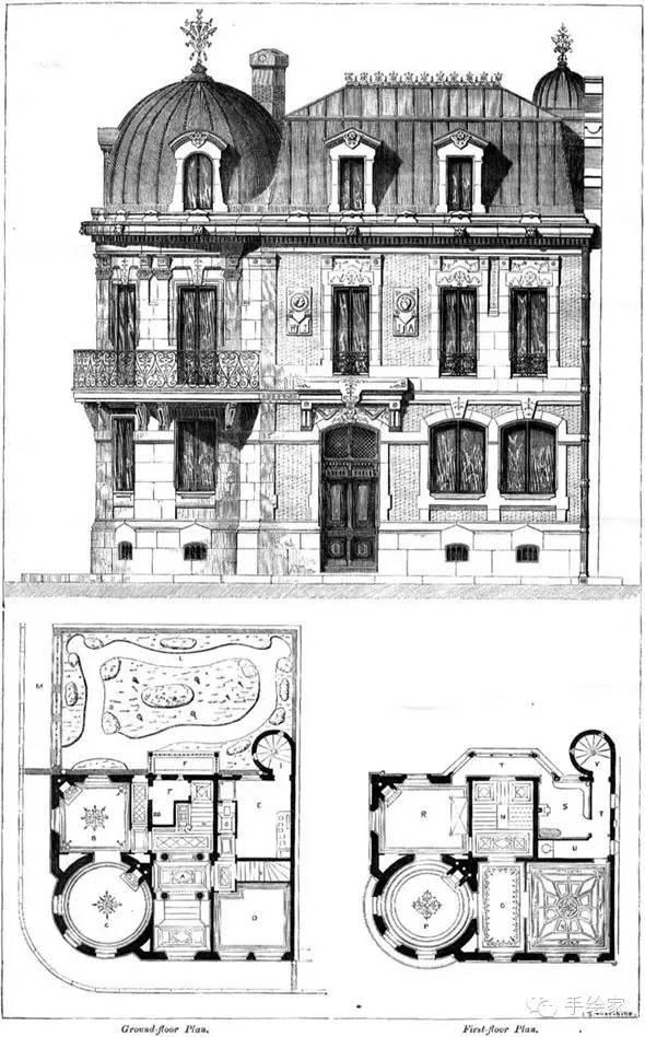百年经典建筑设计手绘图_22