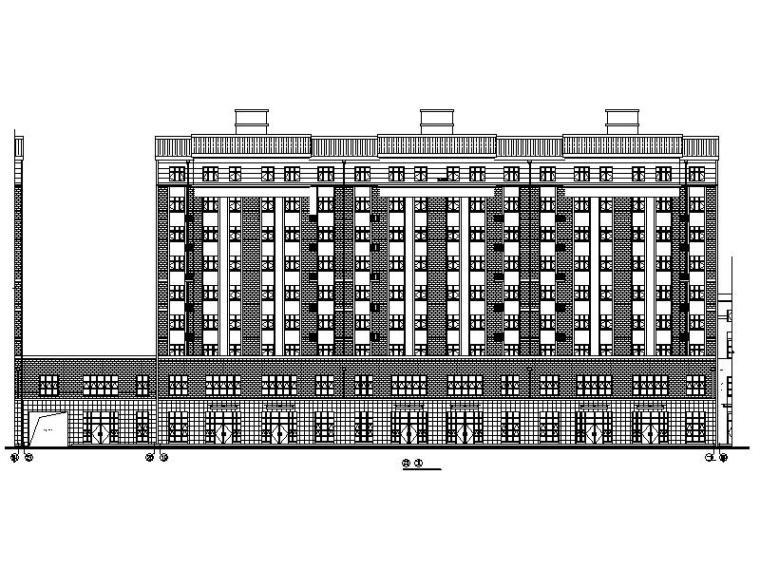 [宁夏]大型医院配套生活区商住两用楼施工图(含全专业图纸)