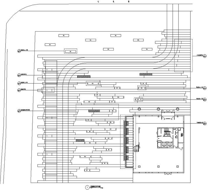 [北京]科技商务园营销体验区景观施工图(LEED黄金认证项目)-营销体验区索引平面图