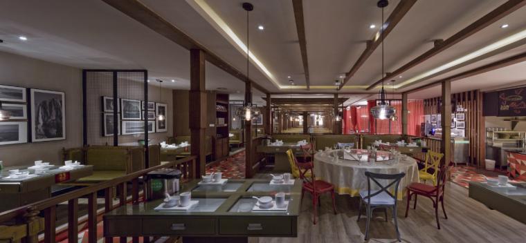【新疆】新疆特色美食餐厅设计施工图(附效果图)_6