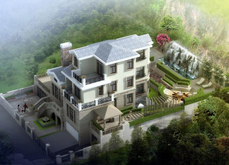 居住主题三层别墅室内设计施工图(含效果图)