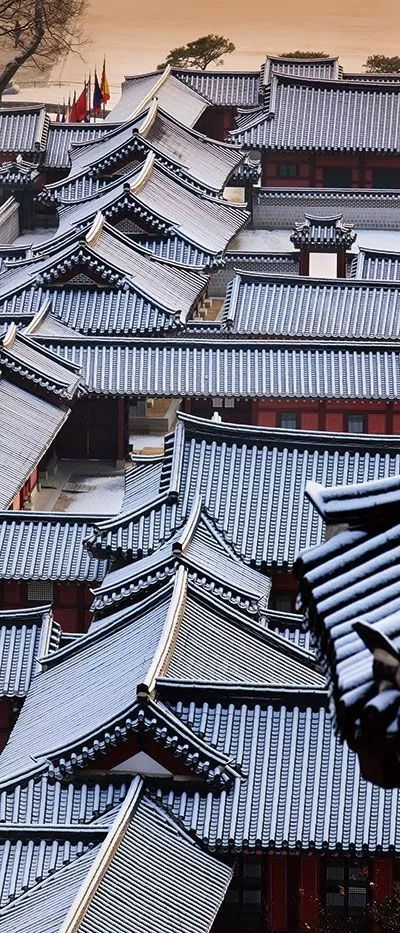 古建筑图,超美平屋顶!