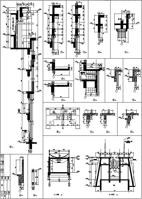 现代高层宾馆酒店建筑设计施工图CAD-现代多层酒店建筑设计节点构造图