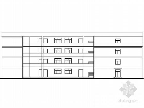 u字形平面资料下载-[贵阳]某四层教学楼建筑方案图