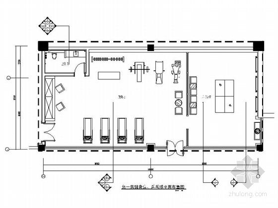 [东莞]商务酒店高档健身房及影音室室内装修施工图