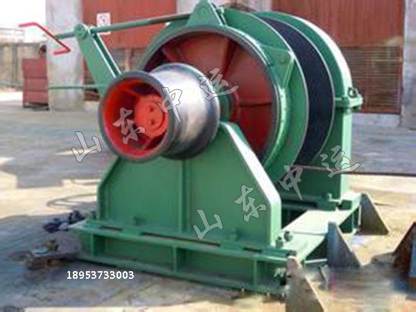 船用液压锚机采用电动-液压供源方式,布置左右对称.图片