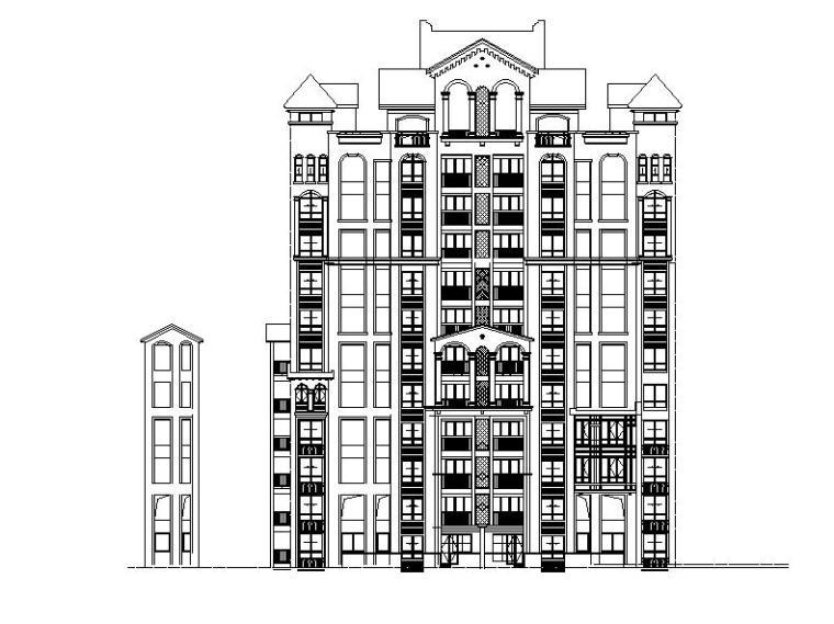 [浙江]十二层框剪剪力墙结构住宅建筑施工图(100多张图纸)