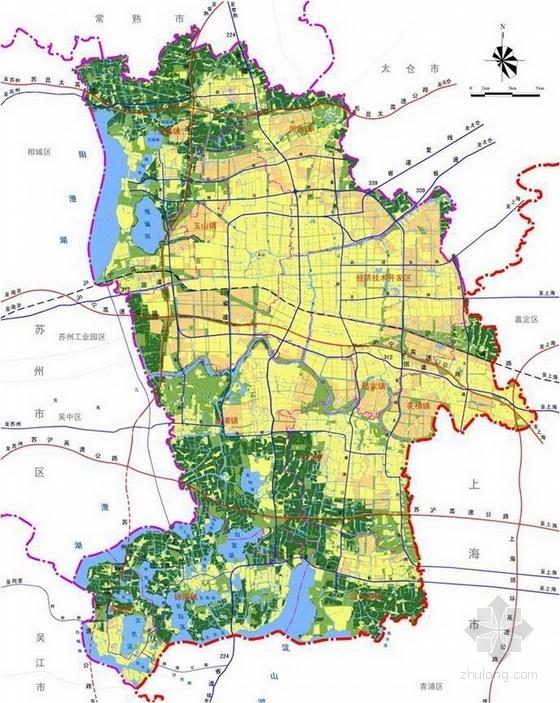 [苏州]全套规范性可持续化城市景观规划设计方案-规划图