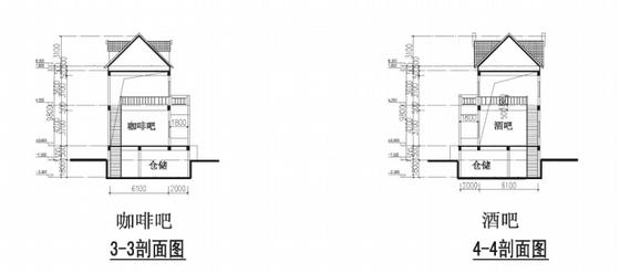 英式风格高档宜居别墅区规划设计剖面图