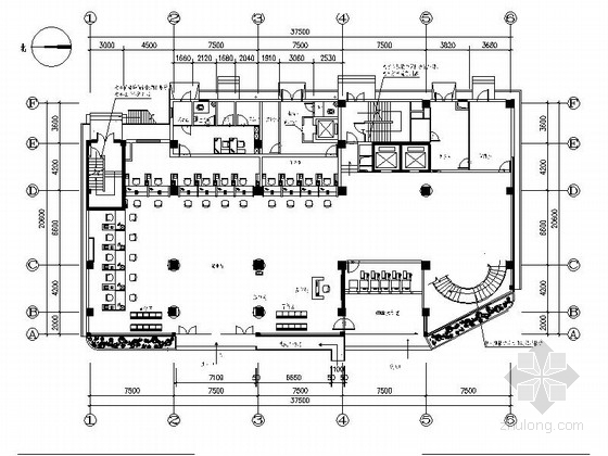 [安徽]高级经济管理部门现代风格办公楼装修室内设计施工图
