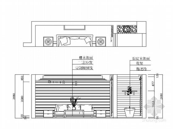[浙江]时尚现代公寓三居室装修图(含效果图) 立面图