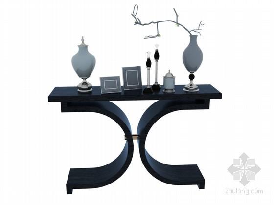 新中式装饰柜3D模型下载