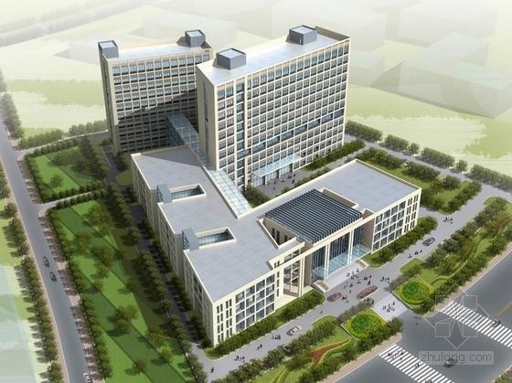 [四川]市级现代风格高层中医院建筑设计方案文本(串联式医院街)