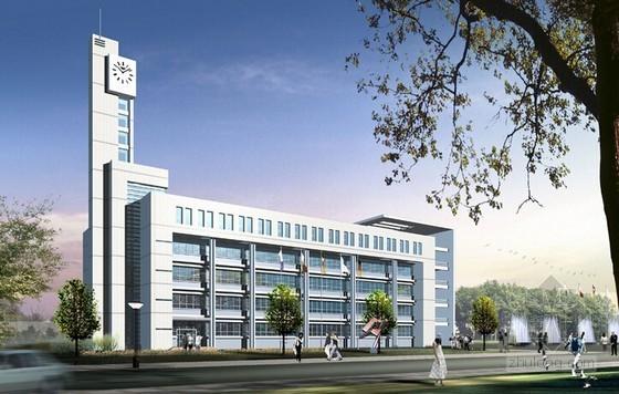 [新疆]3层办公楼建筑及安装工程量计算及预算书(广联达实例 图纸)