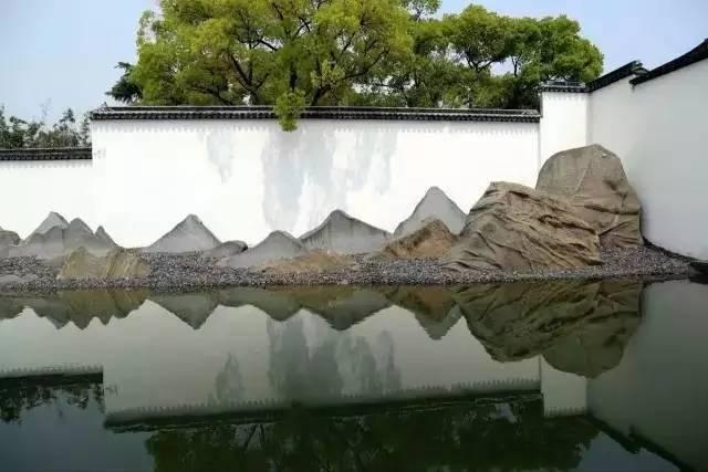 渗透在骨子里的中式情怀的景墙,干净、明亮!_14