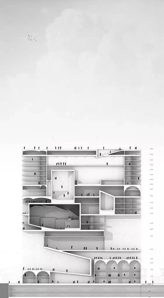 那些霸气的建筑剖面图_30