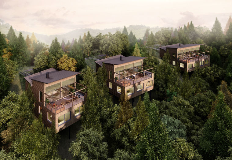 [浙江]莫干山裸心谷度假区景观建筑设计方案(CAD图纸+实景照片)