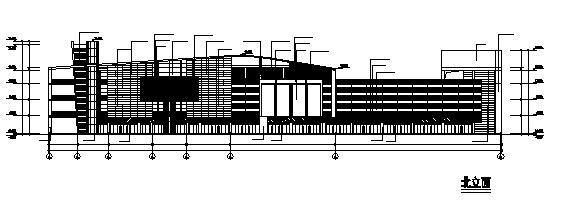 四层现代风格商业中心附带效果图