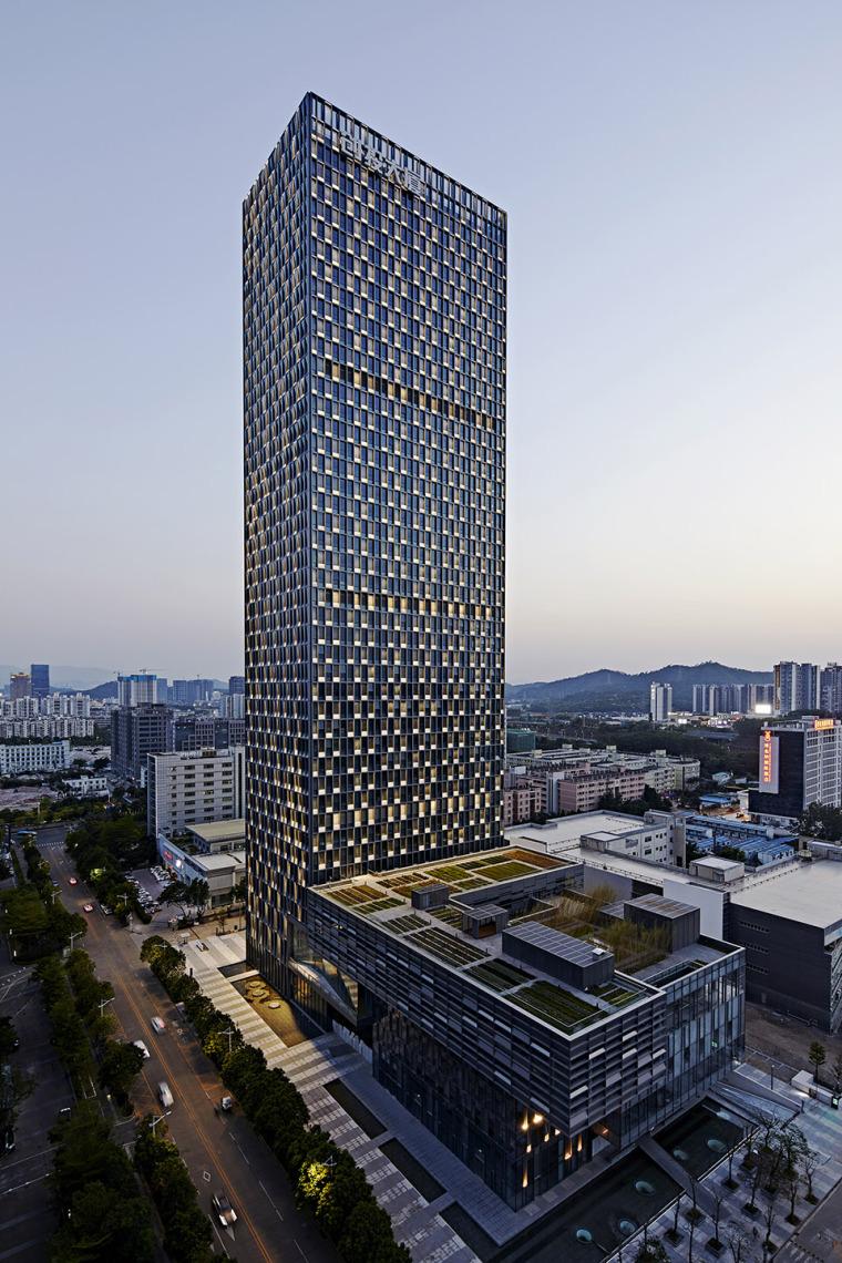 深圳龙岗创投灯光变化的办公大厦-6