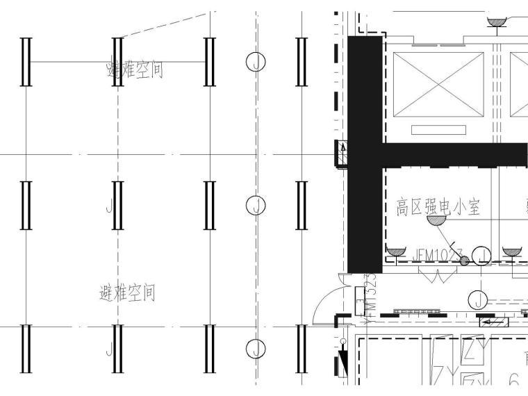 工图][天津]鲁35层商业和办公楼精装机械供配图纸打印电气要求图片
