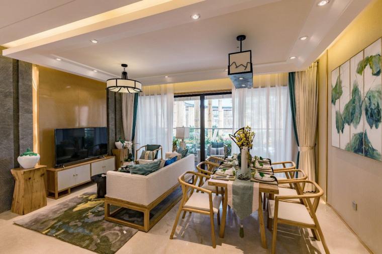 桂林万达文化旅游城禅意风格样板间