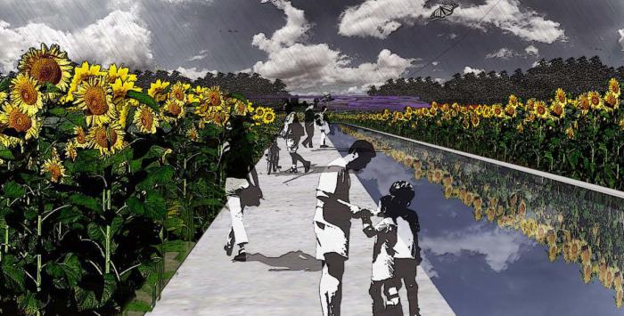 [上海]生态农业旅游庄园景观规划设计方案-种植园采摘效果图