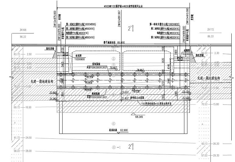 [河南]双向八车道单孔双孔矩形隧道地下道路及地下附属建筑设施设计图948张_3