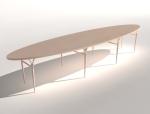 椭圆茶几3D模型下载
