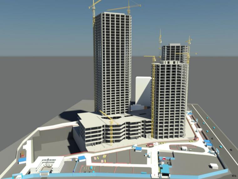 BIM技术在超高层商务楼塔吊布置中的全新应用