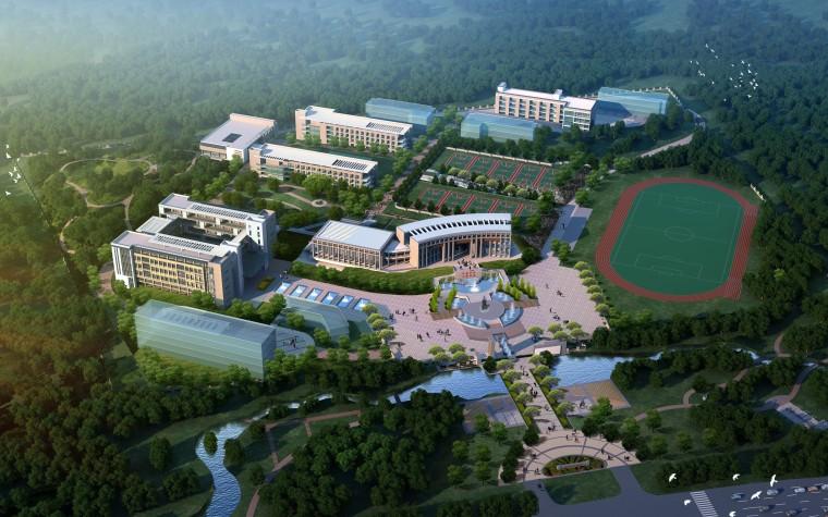 [江西]现代风格新余仙女湖中学规划设计方案文本(JPG)