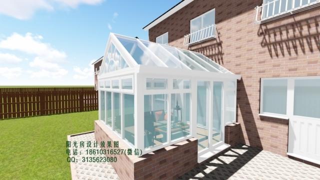 庭院双坡阳光房设计效果图