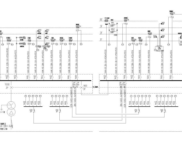 嘉定精品酒店电气施工图(10kv/0.4kv变配电,防雷与接地,二次原理图)_7