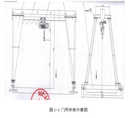 (福建厦门)某地铁站钢筋加工场5吨龙门吊安装与拆除专项施工方案