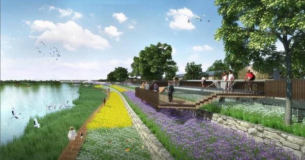 [江西]绿色海绵生态系统滨河景观带规划设计方案