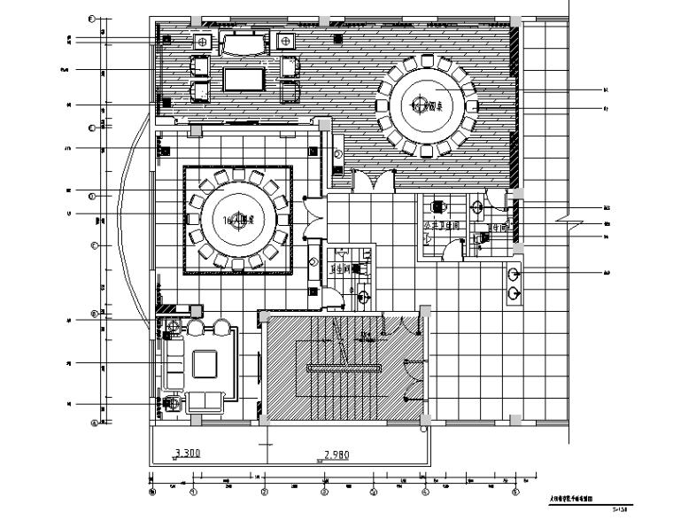 [福建]混搭风格三明大田检察院办公空间设计施工图(附效果图)