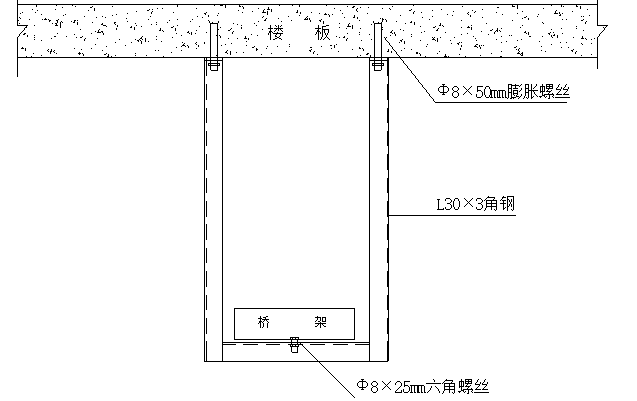 莫创鲁班奖安装工程桥架支吊架制作安装图例_3