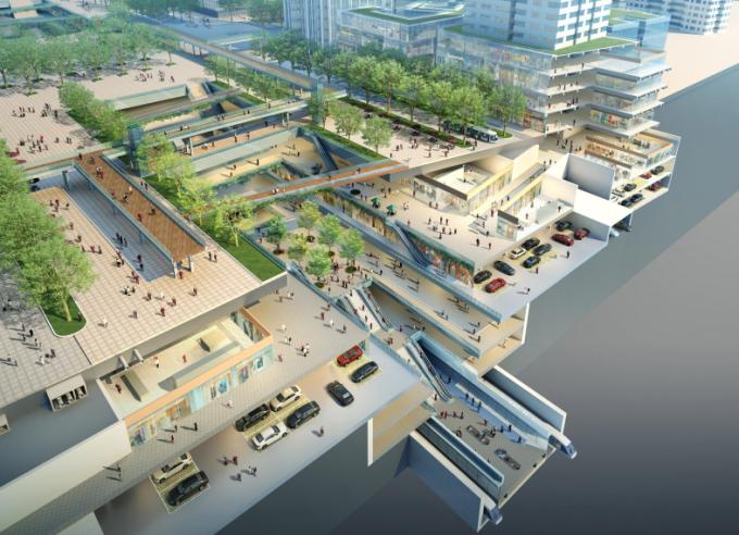 [湖北]生态海绵城市中央绿轴地下立体化商业广场景观绿化设计方案(2017最新)_2