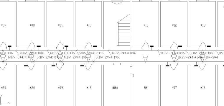 某公寓楼电气改造工程图