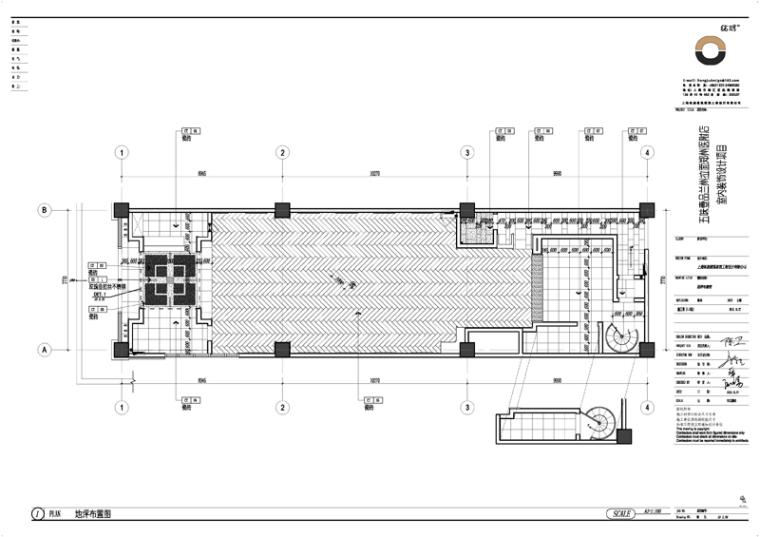 某牛肉面馆室内CAD施工图(含效果图)