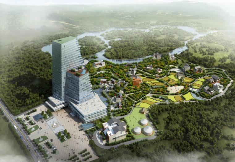 -景民汇源全福名族文化旅游小镇建筑设计方案文本