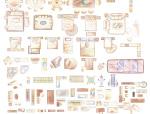 室内设计常用PSD彩色平面图块—手绘类PSD图块