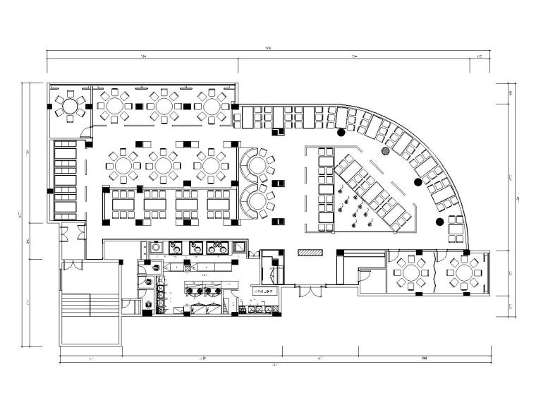 后现代风格大型餐厅内部装修施工图(附效果图)