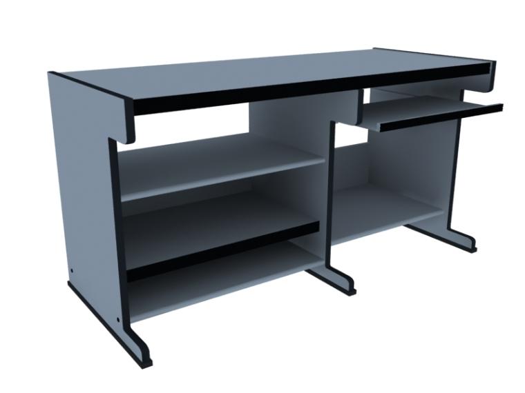 办公电脑桌3D模型下载