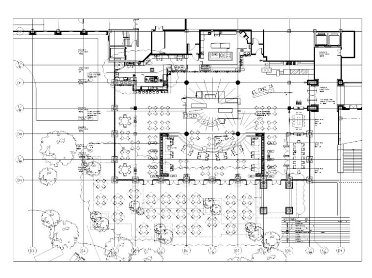 [海南]三亚某五星级酒店全日餐厅施工图