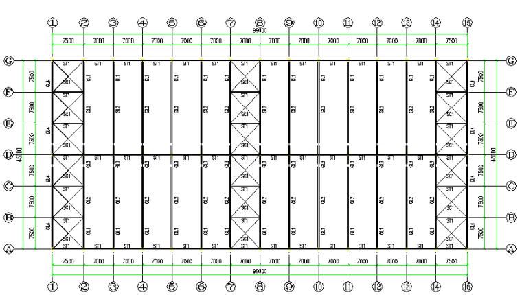 日升石才门式刚架工程施工图(CAD,14张)